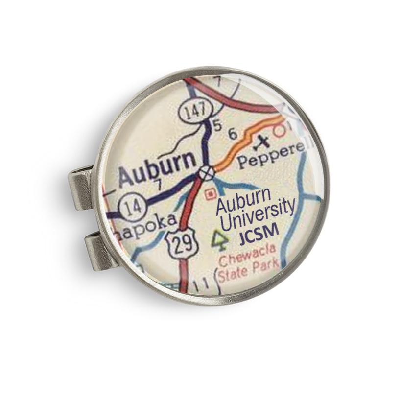 Auburn Map Money Clip