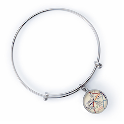 Auburn Map Expandable Bangle