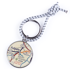 Auburn Map Key Ring
