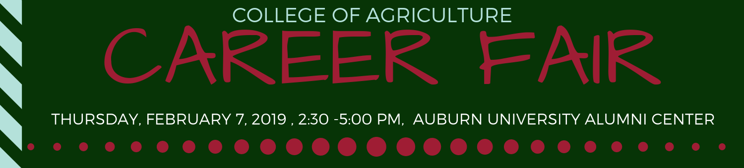 College of Agriculture Career Fair - Spring 2019