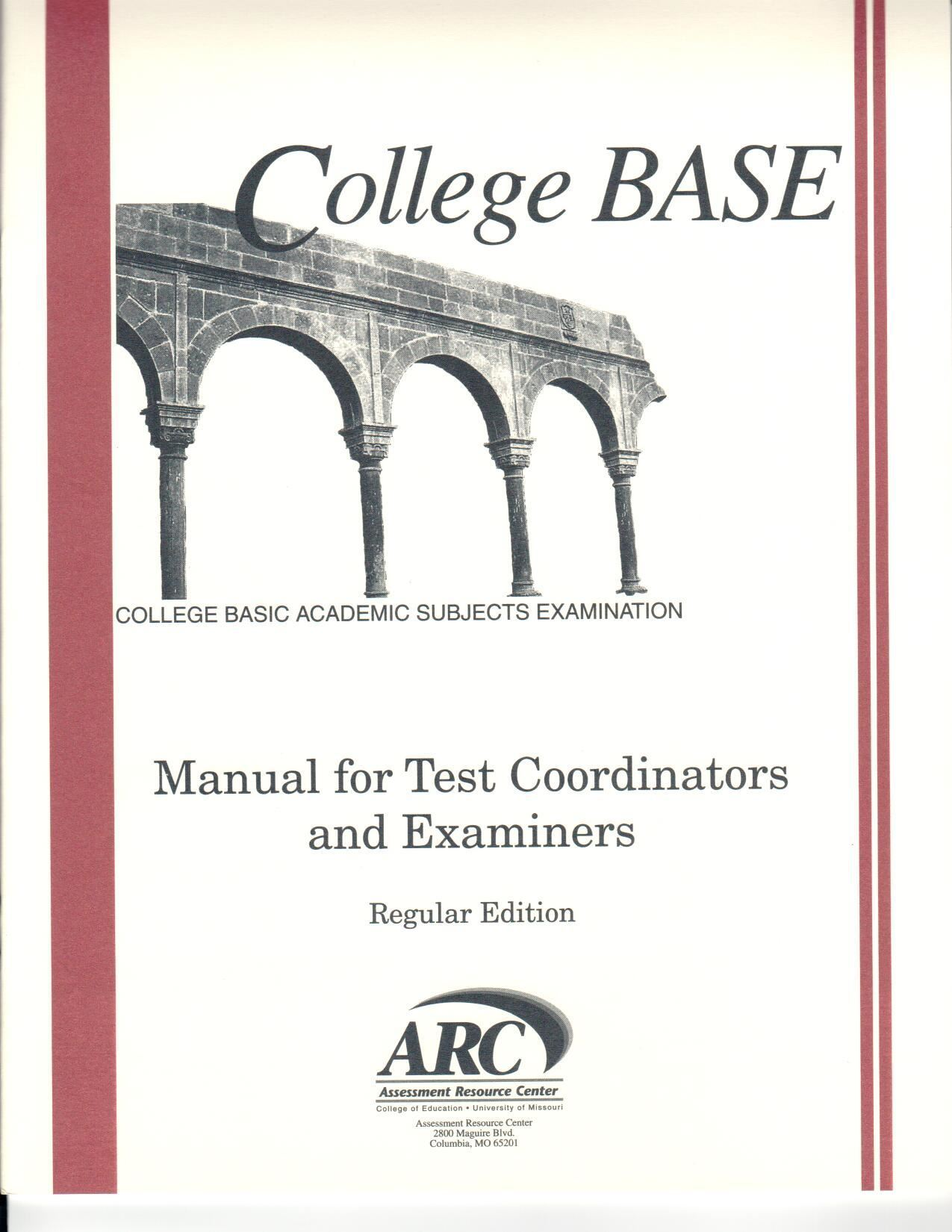 CBASE Manual for Test Coordinators & Examiners