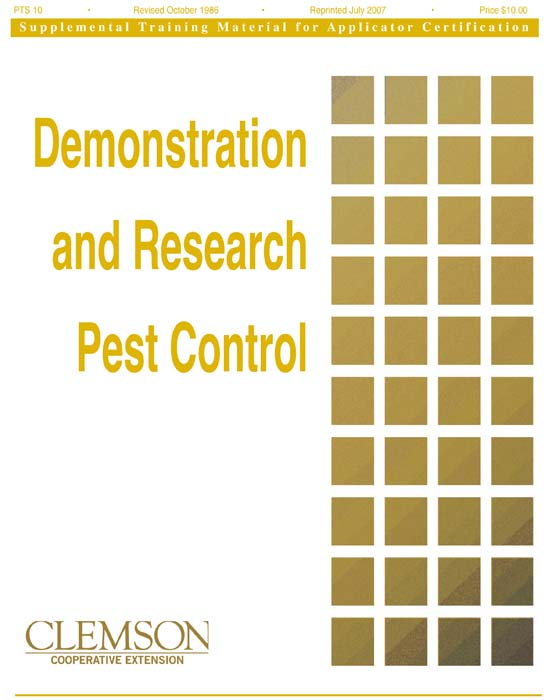 Category 10 Demonstration and Research Pest Control
