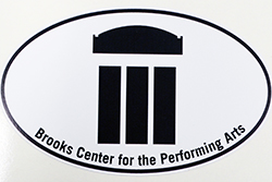 Brooks Center Oval Car Decal