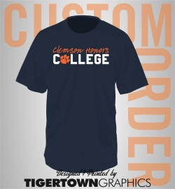 Clemson Honors College Generic t-shirt