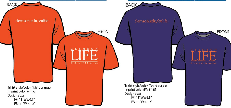 ClemsonLIFE Shirt (Orange or Purple)