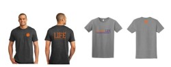 ClemsonLIFE Shirt (Gray with Logo on Front or Gray with Paw on Front )