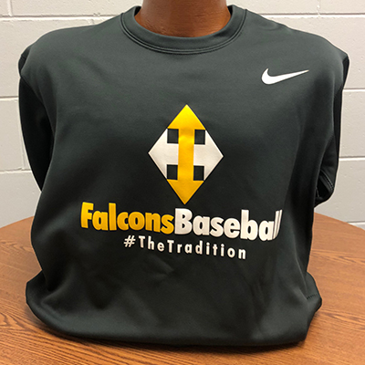 Nike Crew Neck Sweater: Falcons Baseball The Tradition