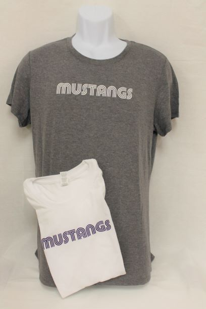 T-Shirt - MUSTANG  Grey or White