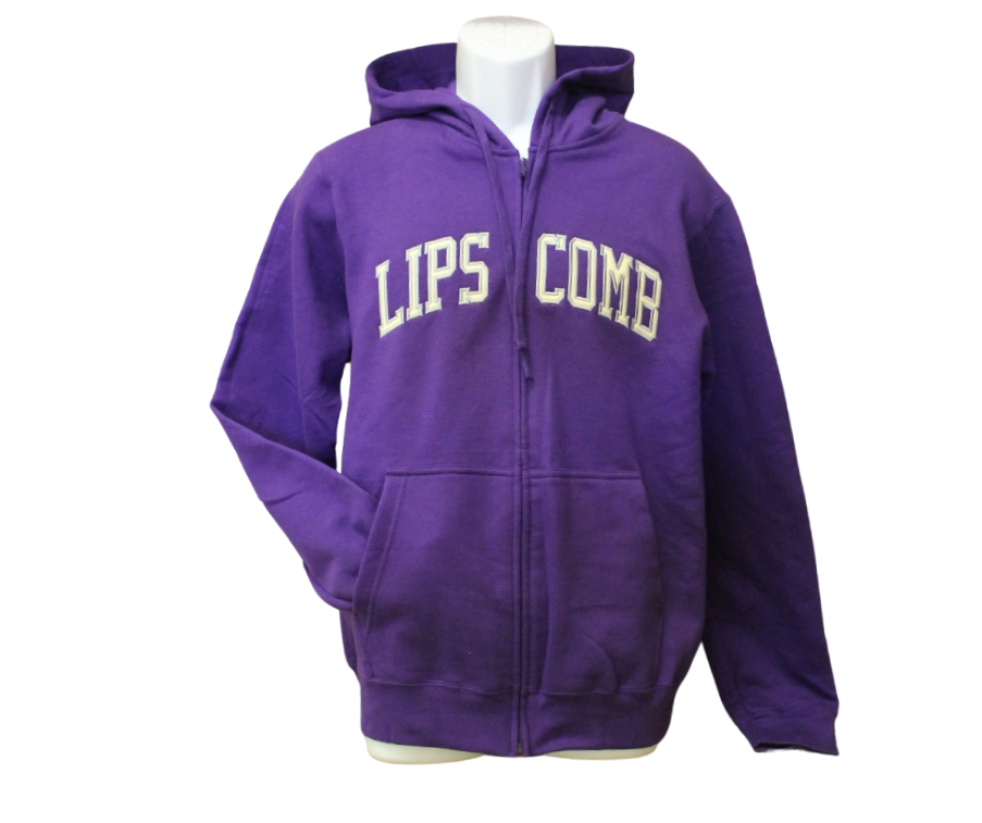 Full Zip - Purple Sweatshirt - Lipscomb Applique'