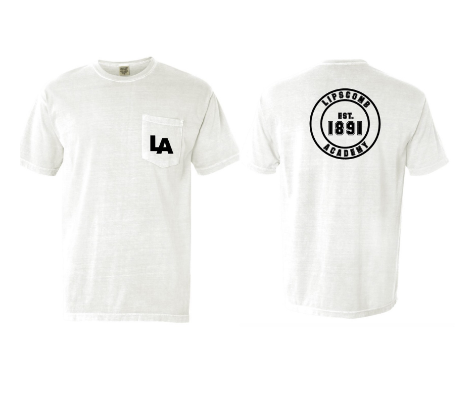 T-Shirt -Pocket T  White  - Long Sleeve or Short Sleeve