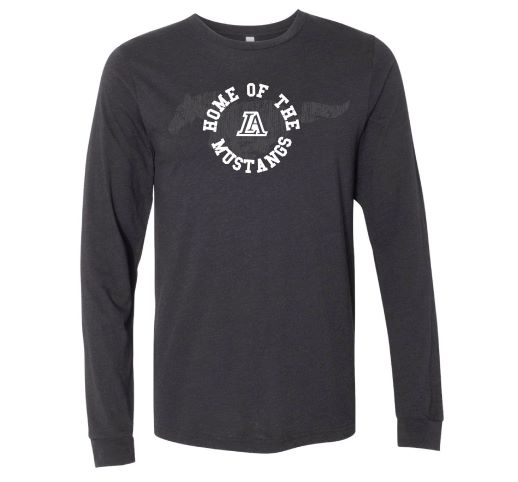T - Shirt Long Sleeve - Home of the Mustangs - Black