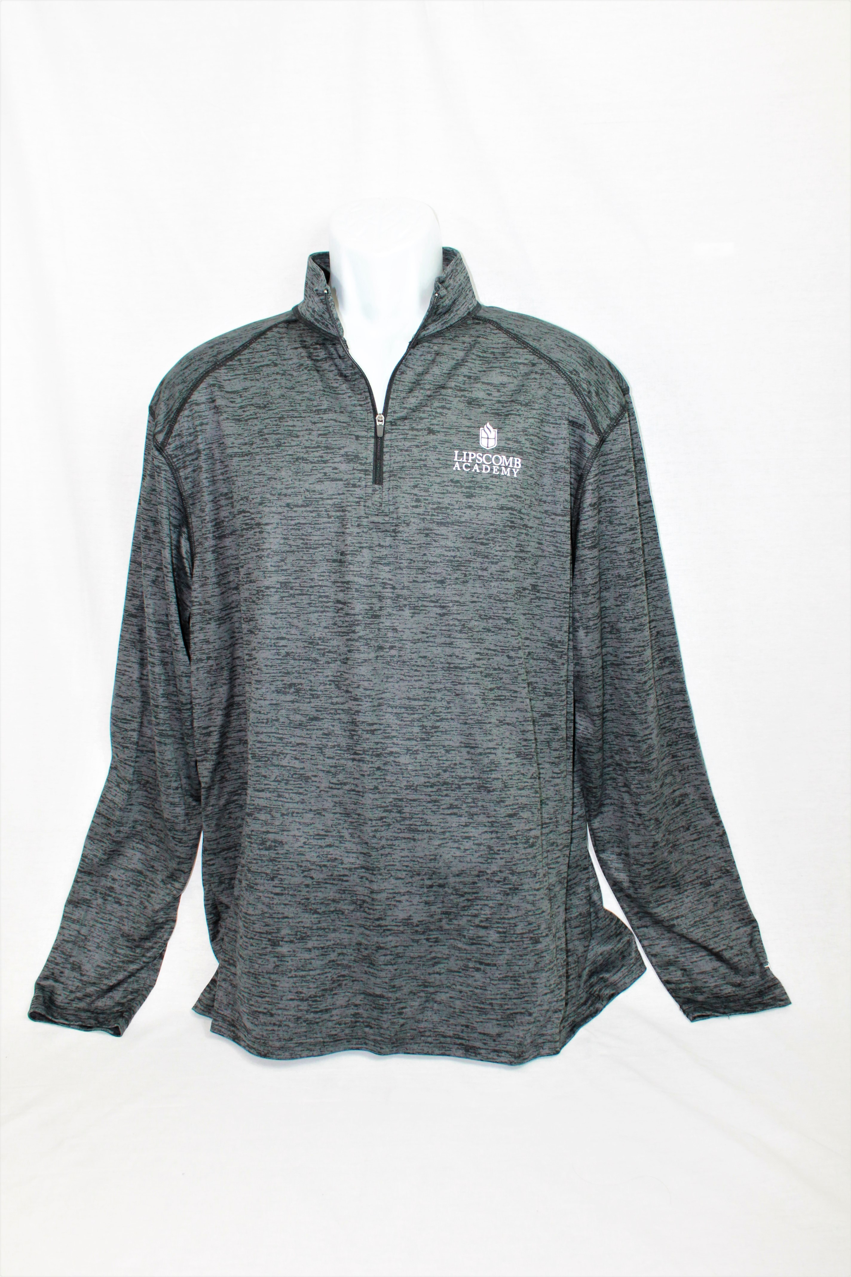 1/4 Zip Lightweight Pullover - Heather Grey or Black