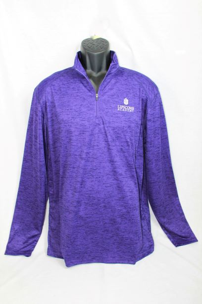 1/4 Zip Lightweight Pullover - Heather Purple