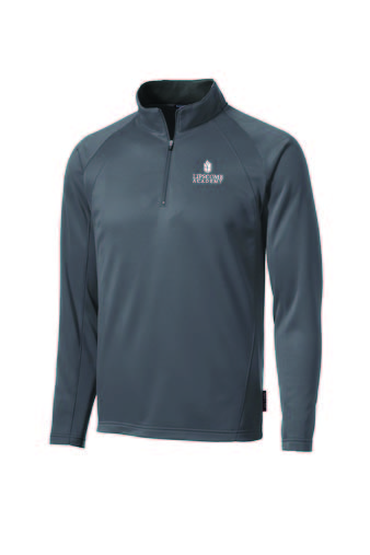 1/4 Zip Performance Fleece Lined Pullover - Grey