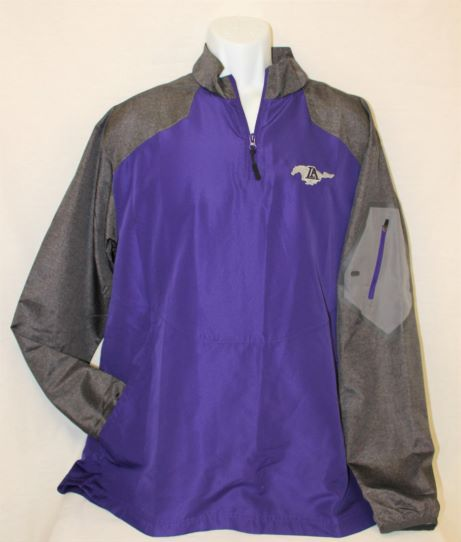 1/4 Zip Lightweight - Purple w/ Grey