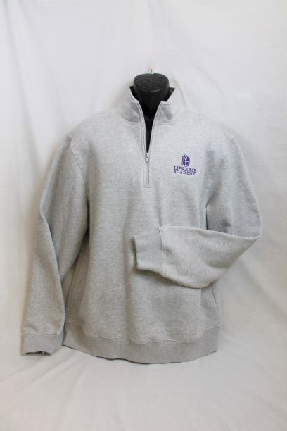 1/4 Zip Sweatshirt - Grey