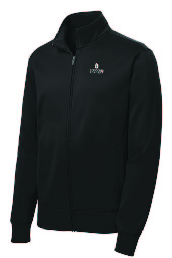 Youth Full Zip Performance Fleece - Black