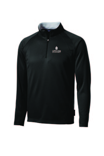 1/4 Zip Performance Fleece Lined Pullover - Black