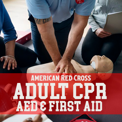 American Red Cross Adult CPR, AED & First Aid