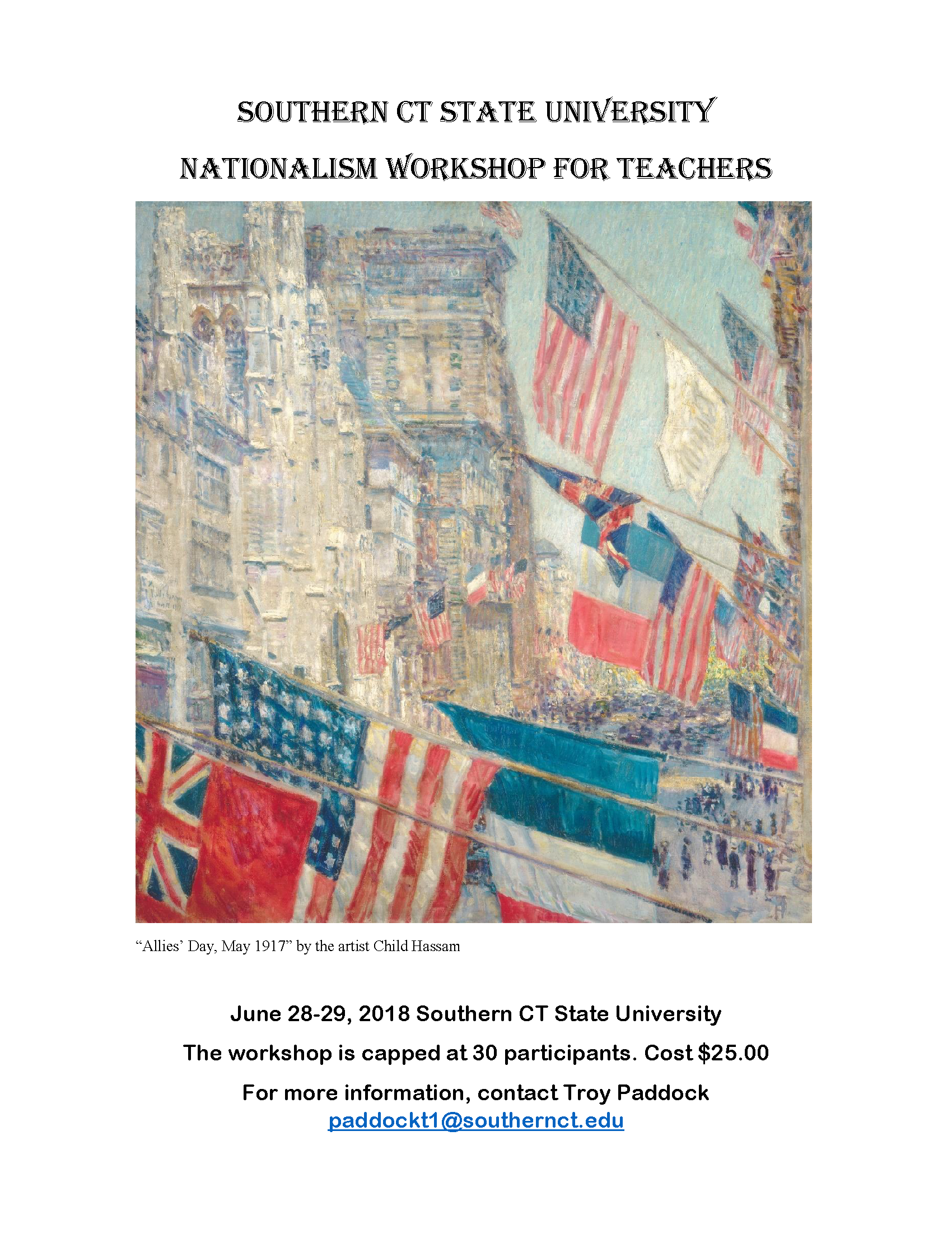 Southern CT State University Nationalism Workshop for teachers