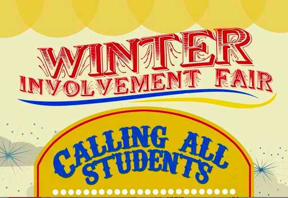 $15 Reg. Fee for Campus Organizations Winter Involvement Fair