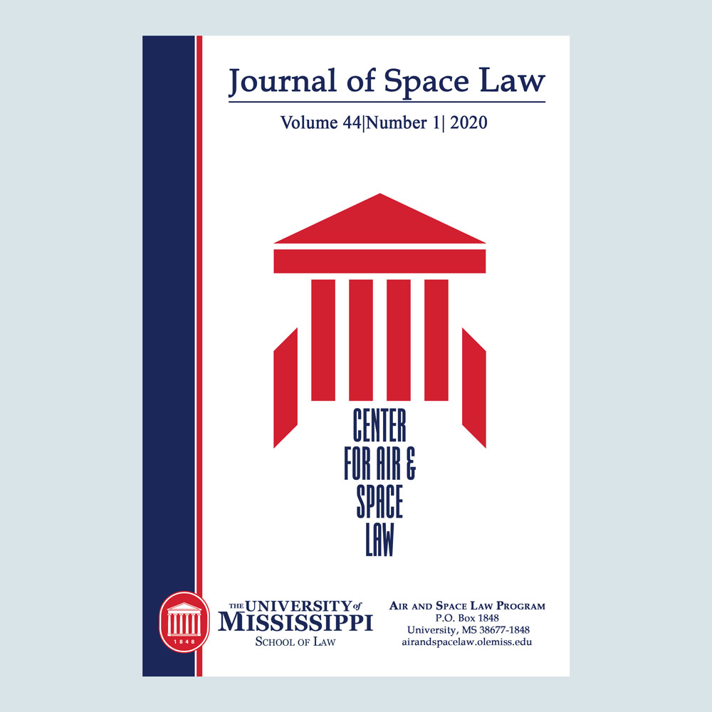 Journal of Space Law 44.1 - DIGITAL ISSUE