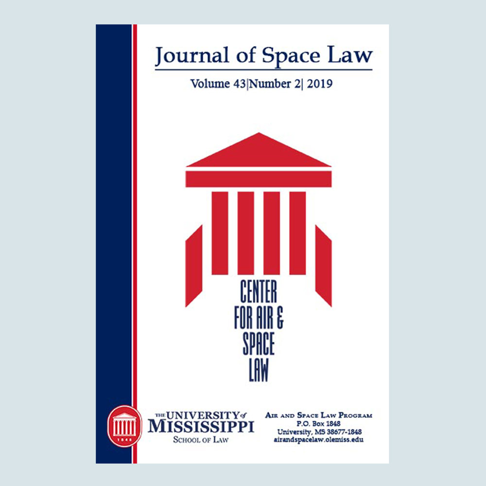 Journal of Space Law Subscription (Starts with Vol. 44)