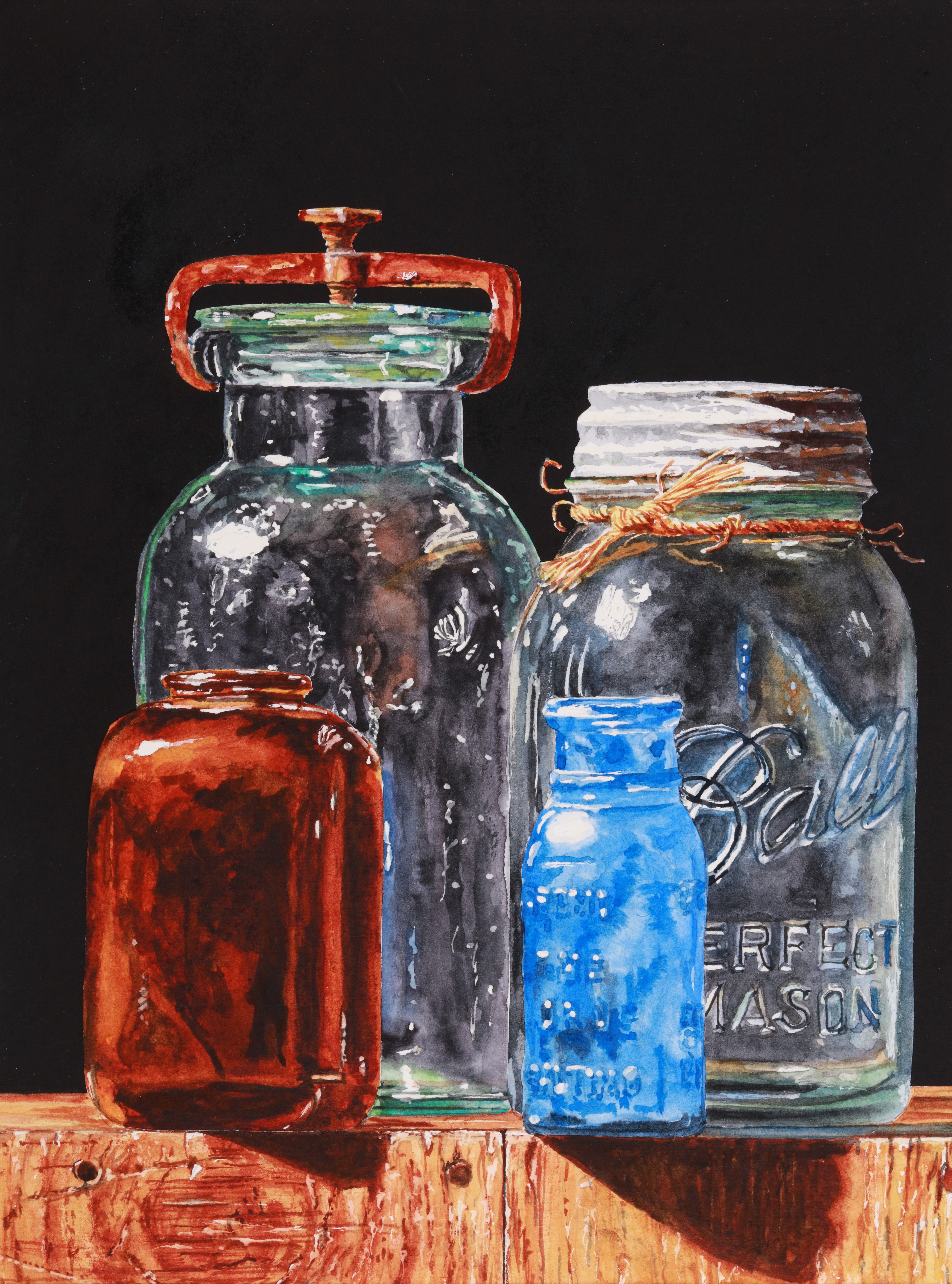 Realism in Watercolor: Painting Clear and Colored Glass