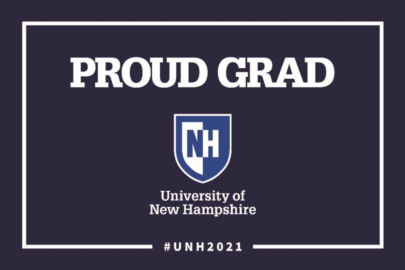 2021 UNH Proud Grad w/shield Lawn Sign