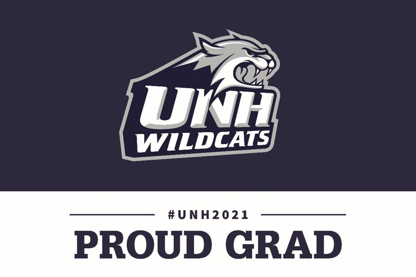 2021 UNH Wildcats Proud Grad Lawn Sign