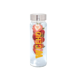 16 Oz. Glass Water Bottle with Fruit Infuser